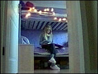 teenager Lauren in her room