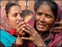 Grieving women