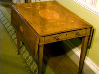 The Chippendale table which was taken