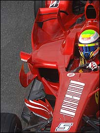 Felipe Massa's Ferrari at the French Grand Prix