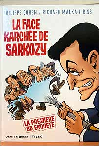 French cartoon featuring Nicolas Sarkozy