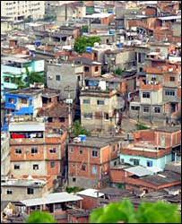 View of the Alemao shanty town