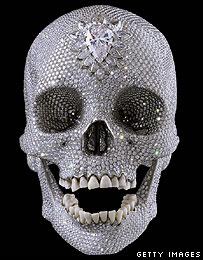 Damien Hirst's skull