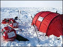 The team's tent (Image: Team N2i)
