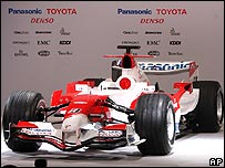 The new Toyota F1 car