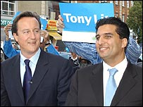 David Cameron and Tony Lit