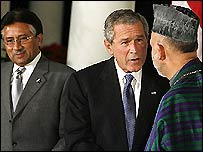 Bush, Musharraf and Karzai