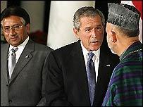 Bush, Musharraf and Karzai