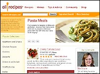 All Recipes website