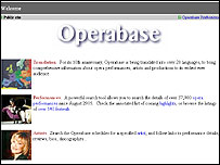 Operabase website