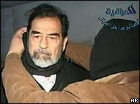 Saddam Hussein at the gallows