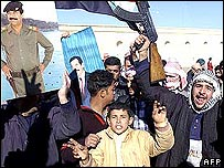 Protest in Tikrit, Saddam Hussein's home town