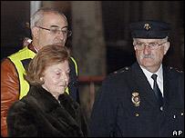 Isabel Perón luego de ser detenida.