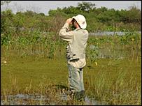 Arne Lesterhuis of the Paraguayan bird life charity, Guyra