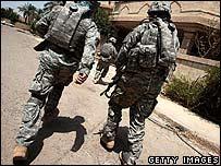 Soldados estadunidenses en Irak.