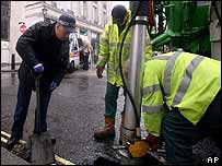 Police checking drains
