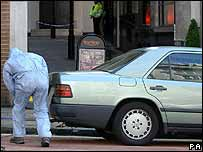Police forensic officer searches first car