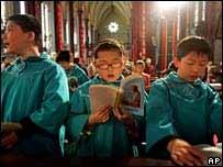 Misa de la Iglesia Católica Patriótica de China.