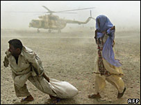 Aid drop in Turbat 30 June
