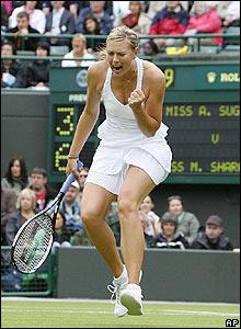 Sharapova celebrates