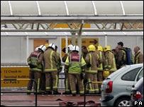 Firemen at airport