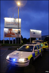 Police at Liverpool airport