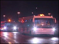 Coaches remove people from Liverpool John Lennon Airport