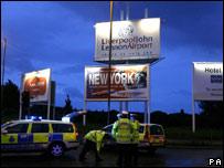 John Lennon Airport cordon