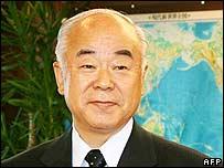 Japanese Defence Minister Fumio Kyuma (archive image)
