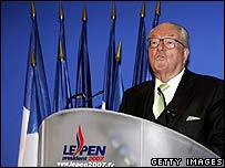 Jean-Marie Le Pen delivers his 2007 New Year's message