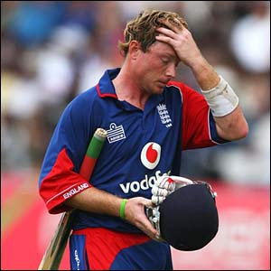 Ian Bell leaves the pitch