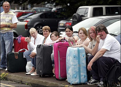 Air travellers stranded at Glasgow Airport