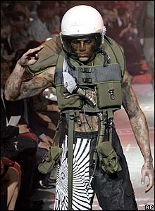 Paris menswear show, A creation by British designer John Galliano