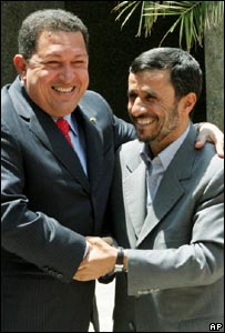 Mr Chavez and Mr Ahmadinejad, Tehran, Sunday,  1 July 2007