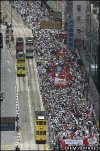 Protest rally in Hong Kong 1 July
