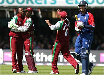 Owais Shah is run out