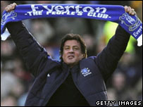 Sylvester Stallone at Goodison Park