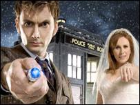 David Tennant a Catherine Tate yn y gyfres Doctor Who