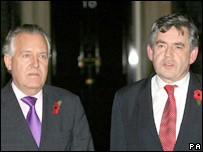 Peter Hain and Gordon Brown