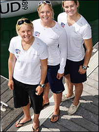 Sarah Ayton (left), Pippa Wilson (centre), Sarah Webb (right)
