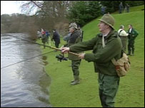 Anglers on the river Tay