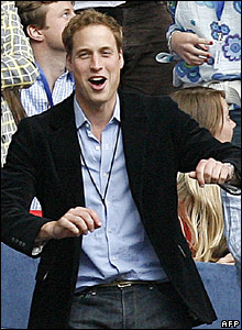 Prince William dances at a memorial concert for his mother, Diana, Princess of Wales