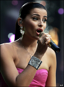Nelly Furtado performs at the Concert for Diana, at London's Wembley Stadium