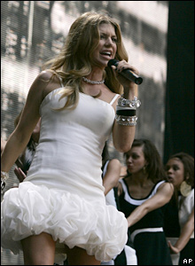 Fergie, of The Black Eyed Peas, at the Concert for Diana