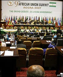 Opening session of the ninth session of the African Union summit, Accra