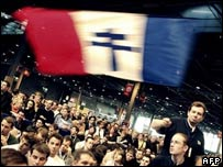 Sarkozy rally in Paris