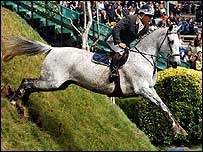 Geoff Billington rides Cassabachus at Hickstead