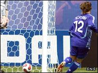 Yashuto Morishima taps in Japan's opening goal