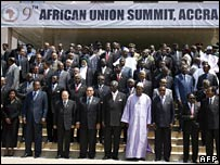 AU leaders in Accra