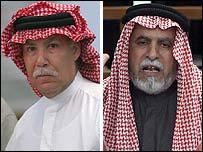Barzan Ibrahim al-Tikriti (l) and Awad Hamad al-Bandar